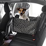 Dog Car Seat Covers,Topist Super Durable Soft Padded Waterproof Fabric Pet Seat Covers Travel Hammock with Pet Dog Car Seat Belt Universal Design for All Cars,Trucks,SUVs(Black